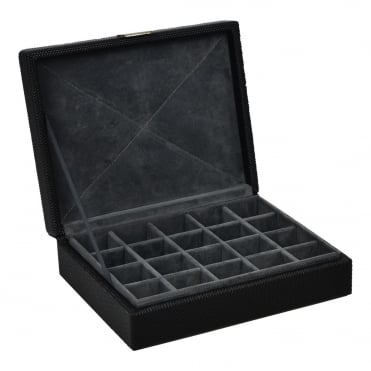 Black Fabric 20pc Cuff Link Holder 71186
