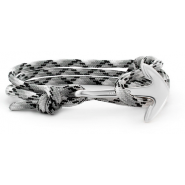 Black, White, Grey Paracord & Silver Bracelet ASR72