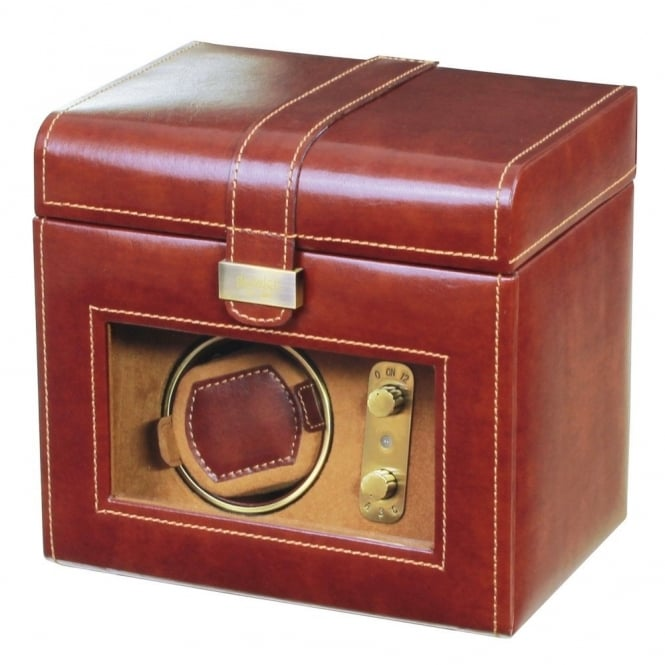 Brown Leather 1pc Watch Winder & 3pc Watch Holder 70883