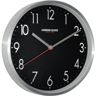 Brushed Chrome Wall Clock 01101