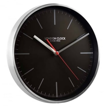 Brushed Chrome Wall Clock 01103
