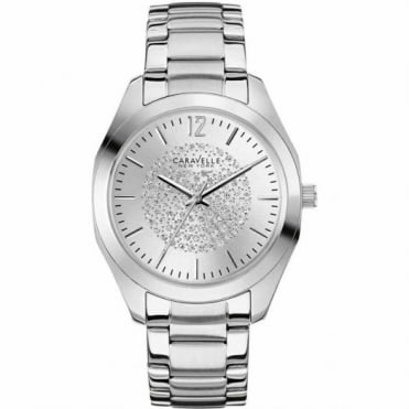 Caravelle New York Ladies S/Steel Stone Set Glitz Watch 43L179