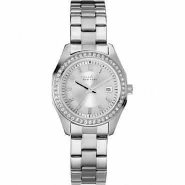 Caravelle New York Ladies S/Steel Stone Set Perfectly Petite Watch 43M108