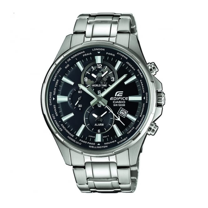 Men's Dual Display World Time Edifice Watch EFR-304D-1AVUEF