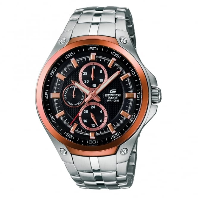 Men's Rose Gold Plated Edifice Watch EF-326D-1AVUEF