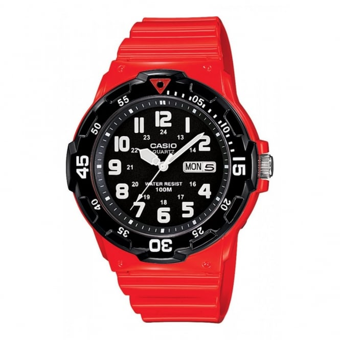 Casio Men's Red Plastic Classic Watch MRW-200HC-4BVEF