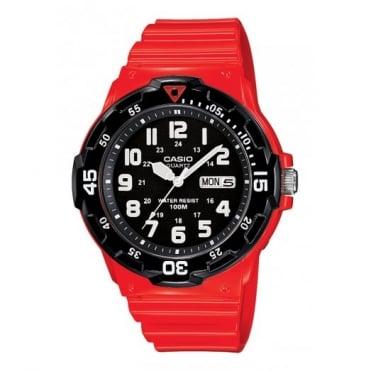 Casio Men's Red Plastic Classic Watch MRW-200HC-4BVEF