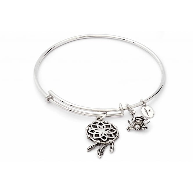 Charmed Rhodium Plated Dream Catcher Bangle CRBT1808SP