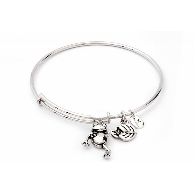 Charmed Rhodium Plated Frog Bangle CRBT1810SP