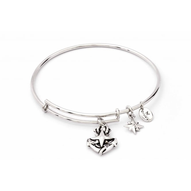 Charmed Rhodium Plated North Star Bangle CRBT1809SP