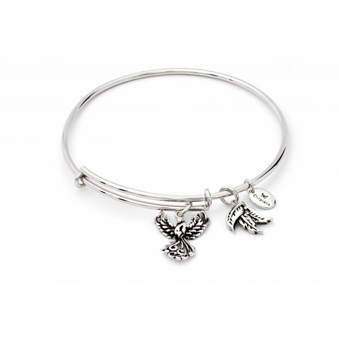 Charmed Rhodium Plated Phoenix Bangle CRBT1802SP
