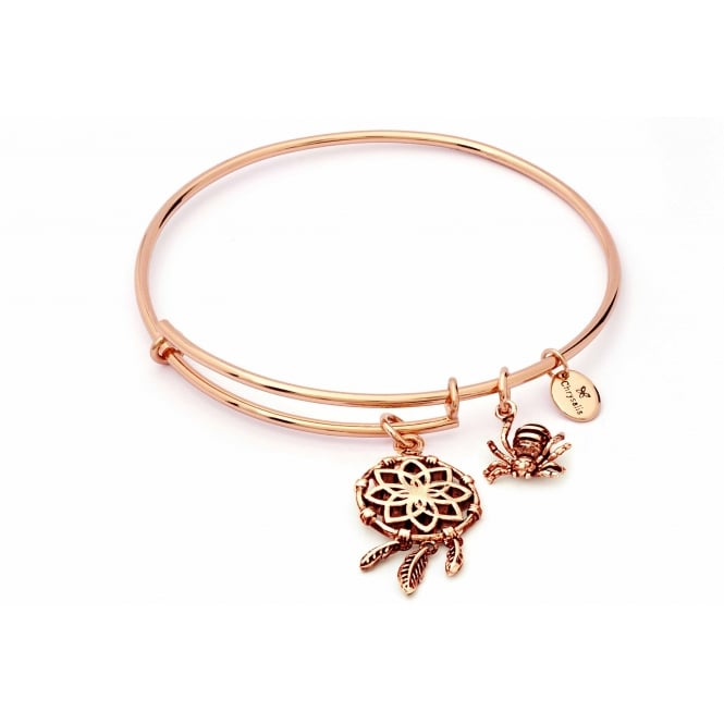 Charmed Rose Gold Plated Dream Catcher Bangle CRBT1808RG
