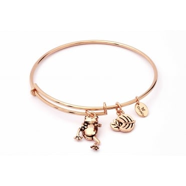Charmed Rose Gold Plated Frog Bangle CRBT1810RG