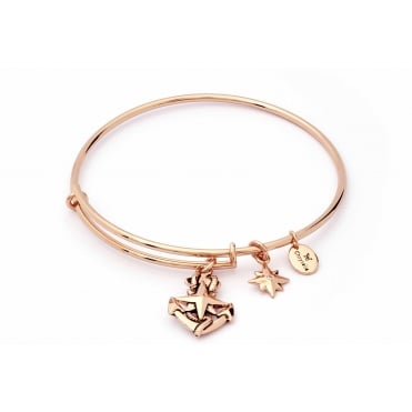 Charmed Rose Gold Plated North Star Bangle CRBT1809RG