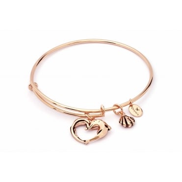 Charmed Rose Plated Aphrodites Heart Bangle CRBT1804RG
