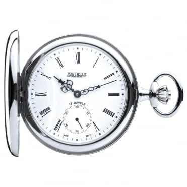 Chrome Full Hunter Mechanical Pocket Watch G102CM