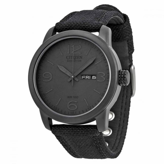 Citizen Gent's Black Miltary Watch BM8475-00F