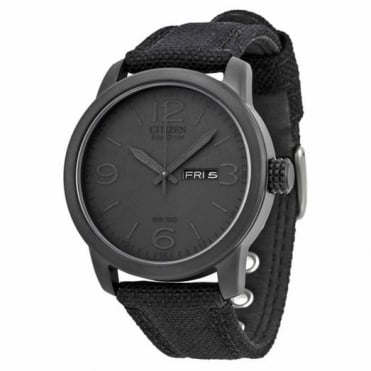 Citizen Gent's Black Miltary Watch BM8475-00F