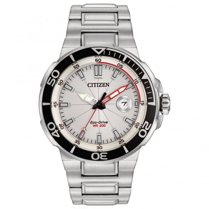 Citizen Gents S/Steel Endeavor Eco-Drive Watch AW1420-55A