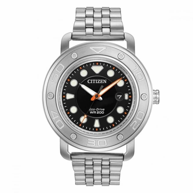 Gent's S/Steel Interchangeable Eco-Drive Watch AW1530-65E