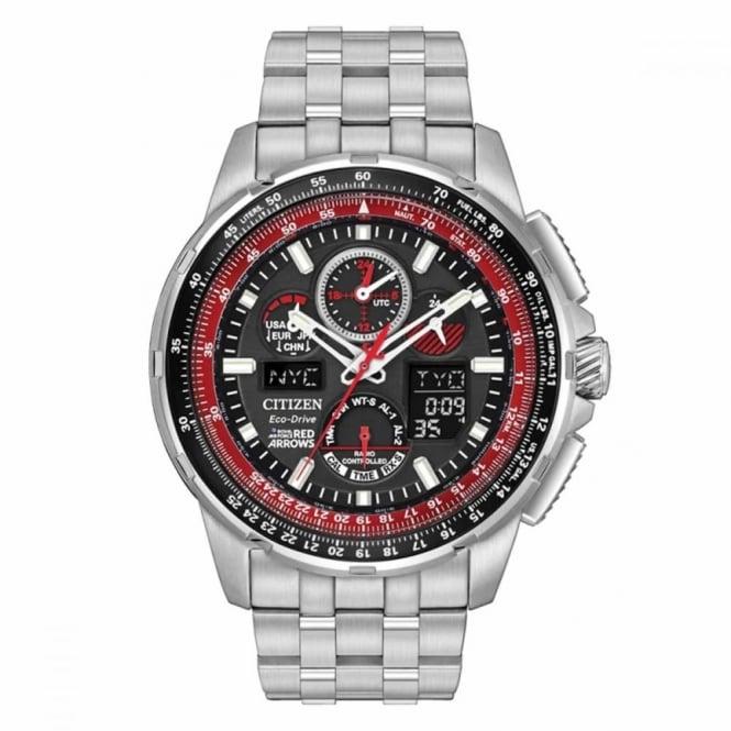 Citizen Gent's S/Steel Red Arrows Sky Hawk Watch JY8059-57E