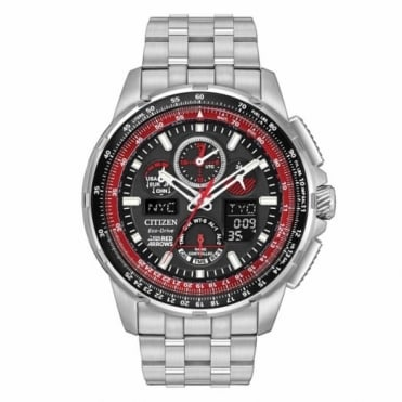 Citizen Gent's S/Steel Red Arrows Sky Hawk Watch JY8059-57E