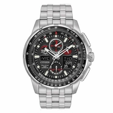 Citizen Gent's S/Steel Skyhawk Radio Controlled Eco-Drive Watch JY8050-51E
