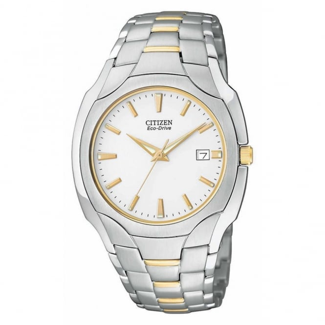 Gents Two Tone Eco-Drive Watch BM6014-54A