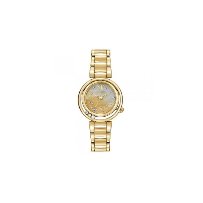 Citizen Ladies' Gold Plate Diamond Set Sunrise Eco-Drive Watch EM0322-53Y
