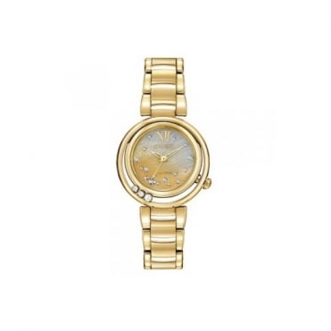 Citizen Ladies' Gold Plate Diamond Set Sunrise Eco-Drive Watch EM0322-53Y