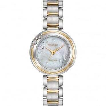 Citizen Ladies' Two Tone Diamond Set Eco Drive Watch EM0464-59D
