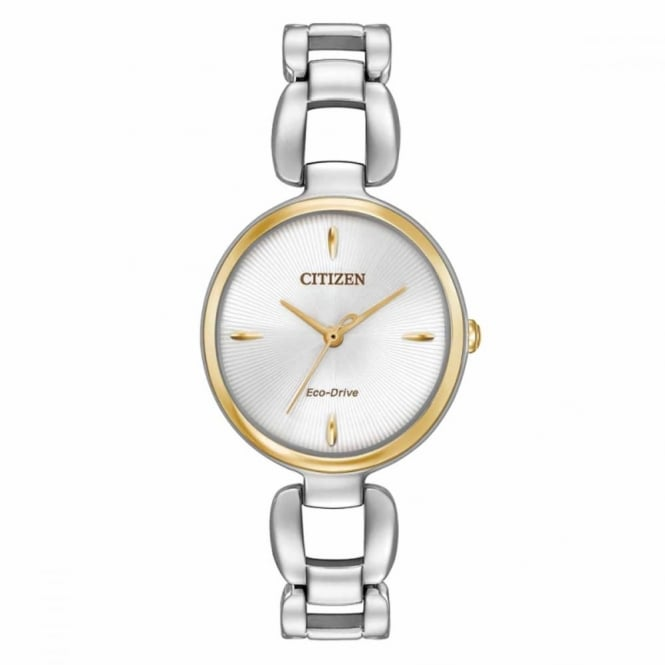 Ladies' Two Tone Eco-Drive Watch EM0424-53A