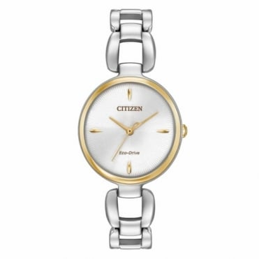 Citizen Ladies' Two Tone Eco-Drive Watch EM0424-53A