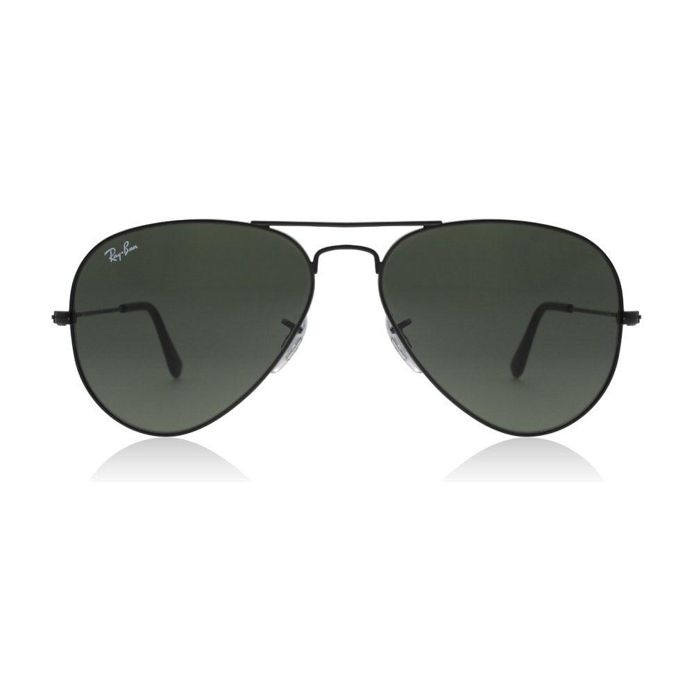 6e915645c10e9 Ray-Ban Classic Aviator Crystal Green Lens Sunglasses RB3025 L2823 58