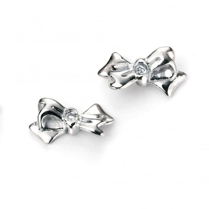 Silver Bow Earrings E5154