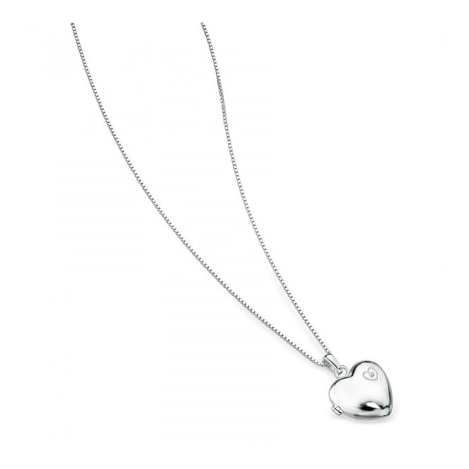 Silver Heart Locket & Chain P2548