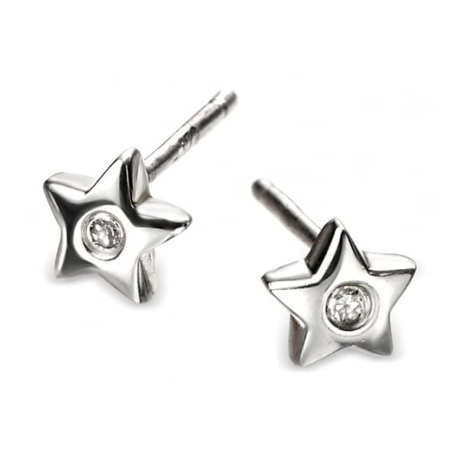 Silver Star Earrings E573