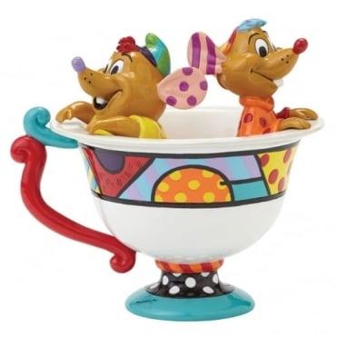 Disney Britto Jaq & Gus In Tea Cup Figure 4044110