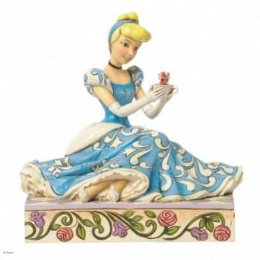 Disney Traditions Caring & Courageous - Cinderella With Jaq & Gus Figurine 4037511