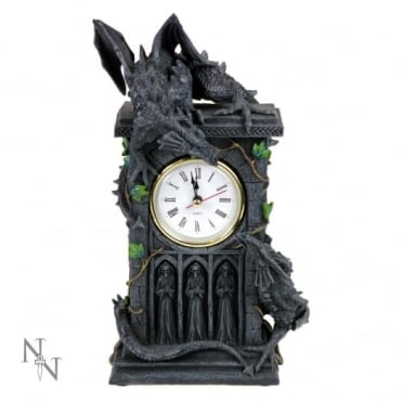 Duelling Dragons Slate Mantel Clock NOW114