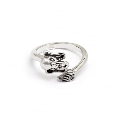 Elephant Rhodium Plated Ring CRRT0509AS