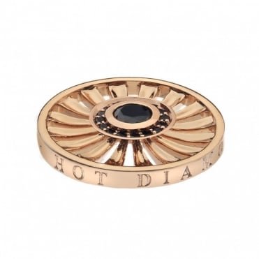 Emozioni 25mm Rose Gold Plate Art Deco Sunrise Coin EC120