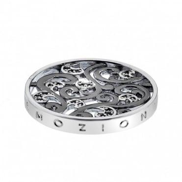 Emozioni 25mm Silver Edera Oxidised Coin EC191