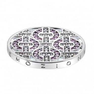 Emozioni 33mm Silver Telaio Pink Coin EC202