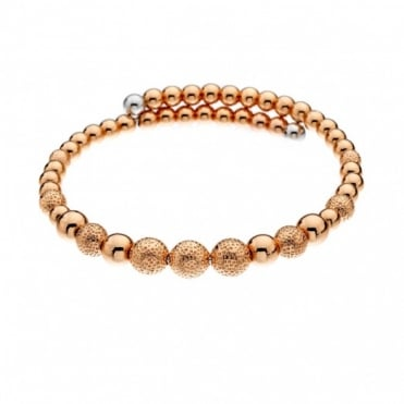Emozioni Rose Gold Plate Ula Wrap Bangle DC156