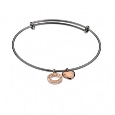 Rose Plate Bangle Large DC128