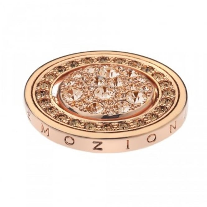 Rose Plate Fiamme e Ghiaccio Rose Gold Plated 25mm Coin EC226