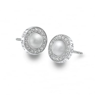 Silver Giove Pearl Earrings DE460
