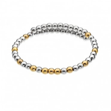 Emozioni Silver & Gold Plate Wrap Bangle DC154
