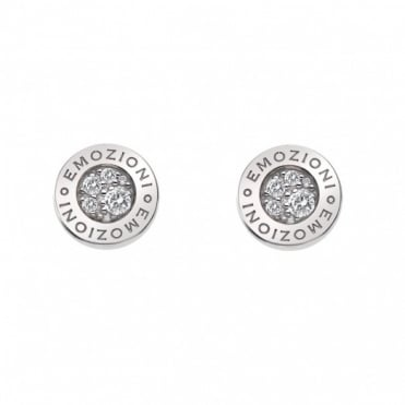 Emozioni Silver Pianeta CZ Stud Earrings DE402